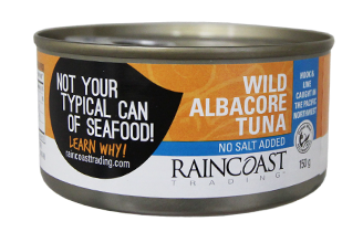 Raincoast Trading again ranked #1 by Greenpeace Canada as the most sustainable canned tuna in the country